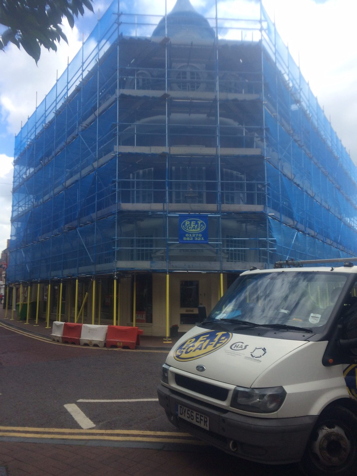 Scaffolding at Christians Nantwich